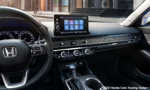 Interior view of 2022 Honda Civic Touring sedan