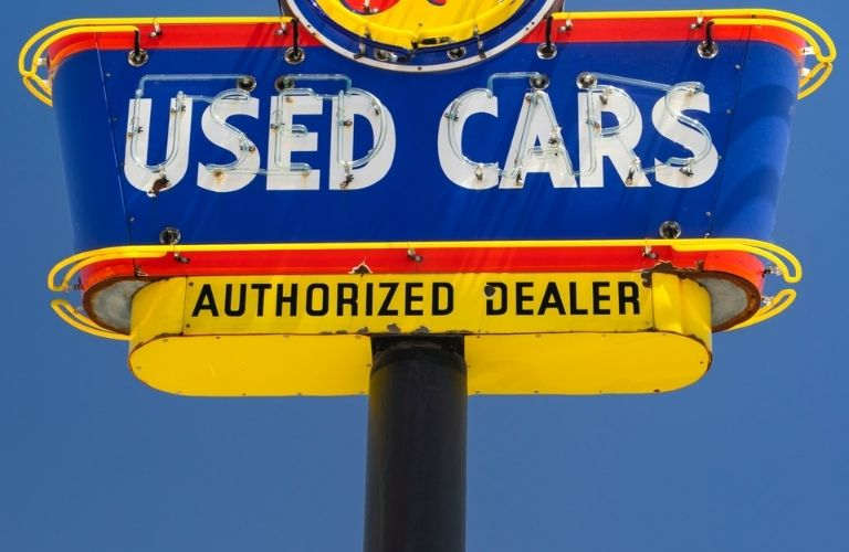 Used Cars Authorized Dealer Sign Board