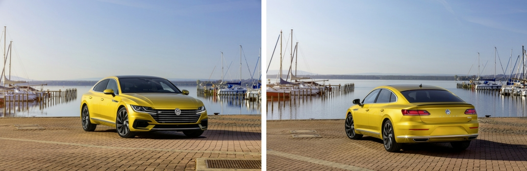 Side by side picture of 2019 VW Arteon with R-Line Package