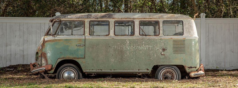 Exterior view of the Jenkins' 1966 Volkswagen Type 2 Bus