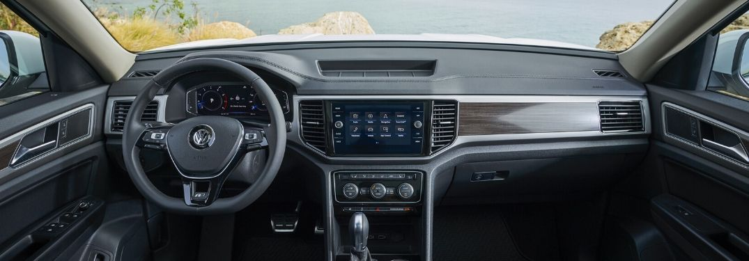 2020 VW Atlas interior steering wheel and dashboard
