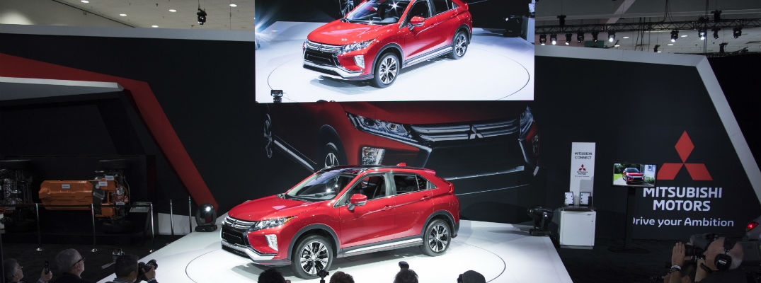 An overhead look at the 2018 Mitsubishi Eclipse Cross at an auto show earlier this year