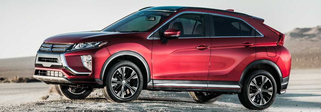 red 2018 mitsubishi eclipse cross in desert background