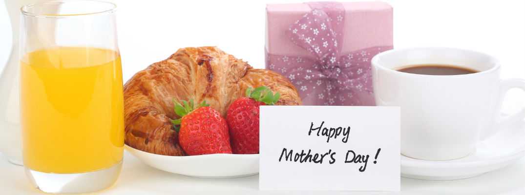 A stock photo of a Mother's Day breakfast place setting.