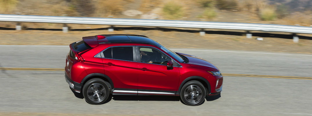 An overhead photo of the 2018 Mitsubishi Eclipse Cross