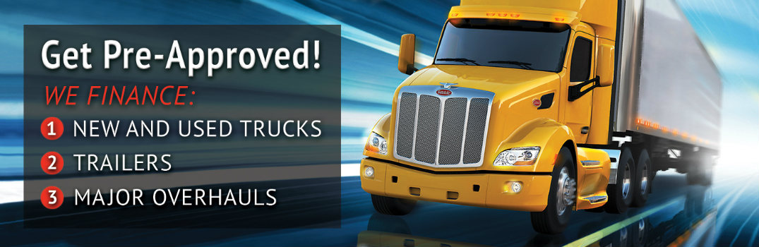 Finance your commercial truck purchases through Allstate Peterbilt