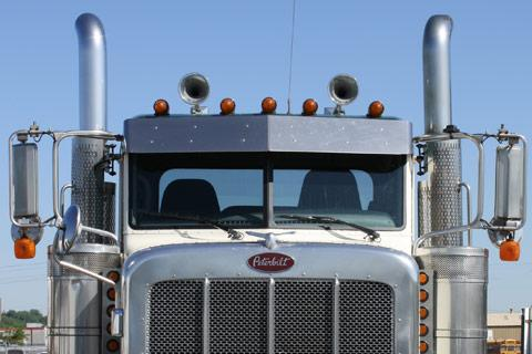 Peterbilt truck exhaust pipes