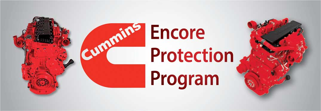 What does the Cummins Encore Protection program cover?