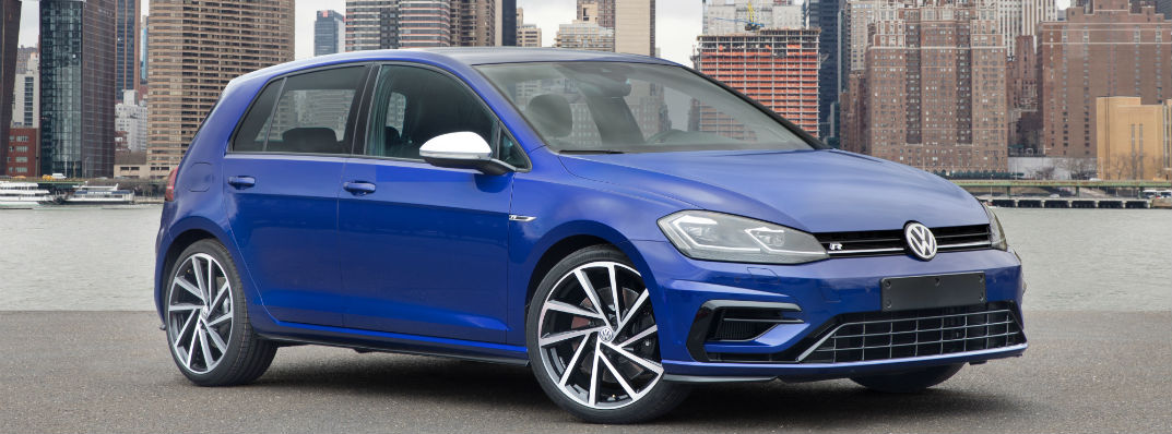 2018 Golf R Release Date >> 2018 Volkswagen Golf R Parked By A Lake With The City In The