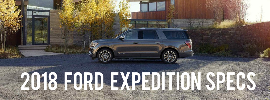 2018 Ford Expedition parked in front of a modern house