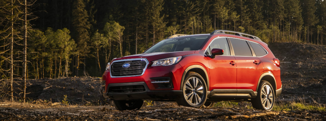 2019 Subaru Ascent by a forest