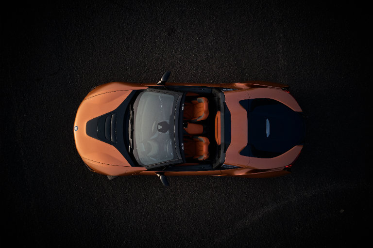 2019 BMW i8 from above