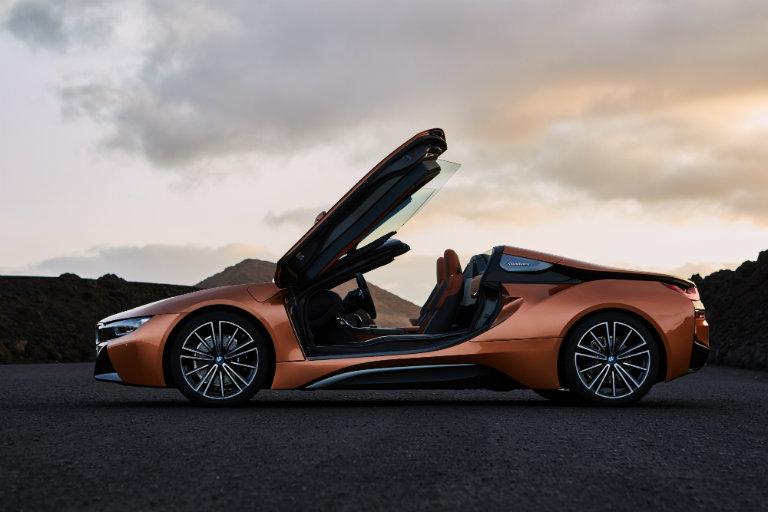 2019 BMW i8 with doors open