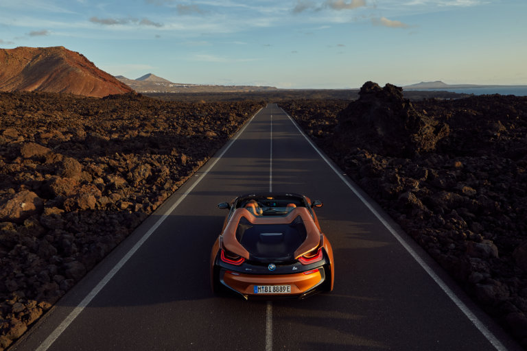 2019 BMW i8 on the open road