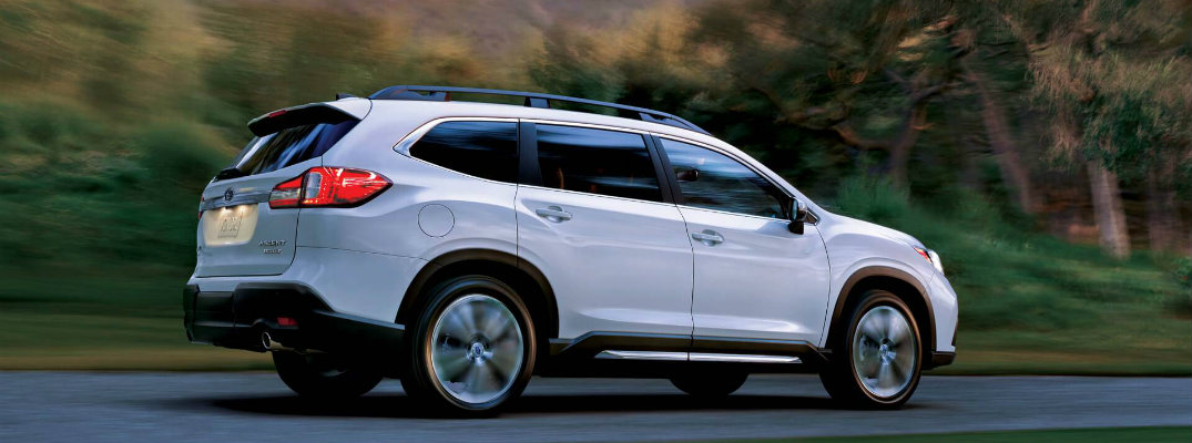 2019 Subaru Ascent driving down the road