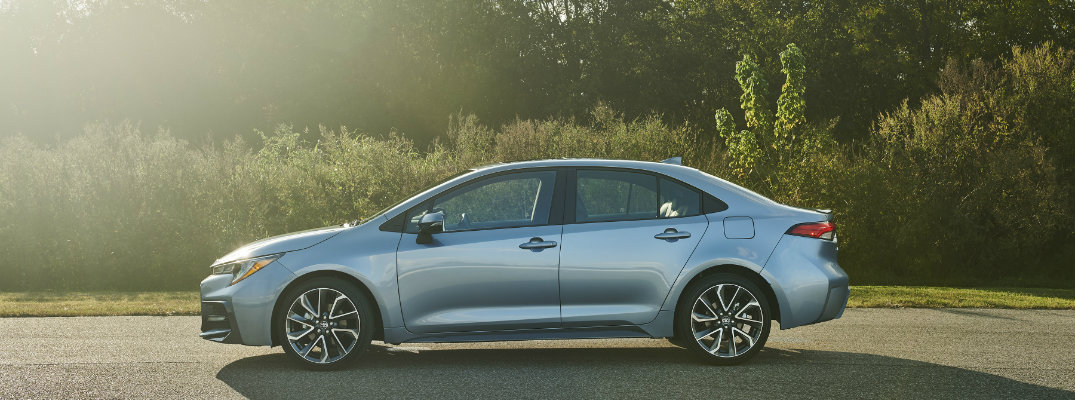 2020 Toyota Corolla parked on a sunny day
