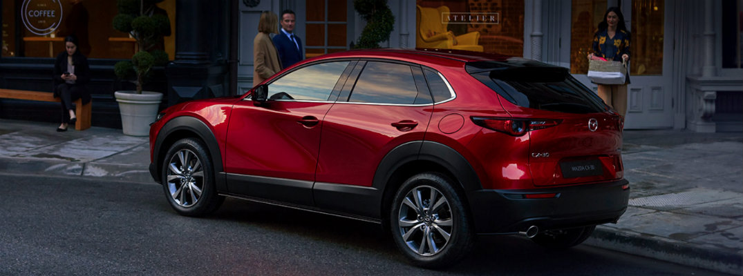 2020 Mazda CX-30 parked downtown