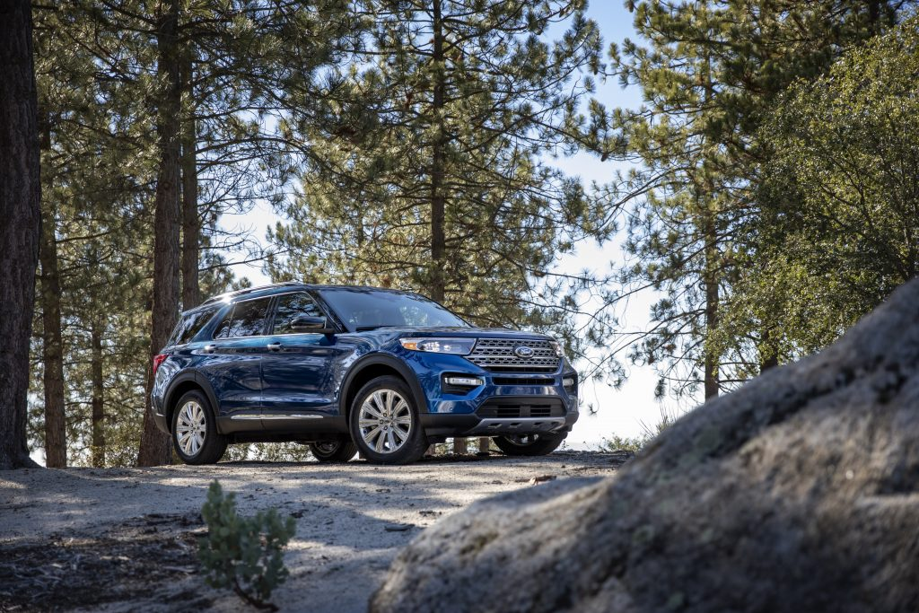 2020 Ford Explorer Limited by the forest