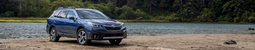 2020 Subaru Outback by the lake