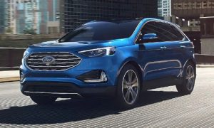 2020 Ford Edge in Atlas Blue