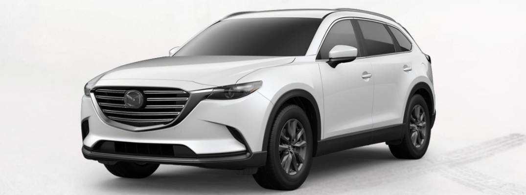 2020 Mazda CX-9 against a whilte background