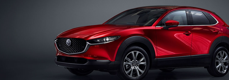 2020 Mazda CX-30 parked over a dark background