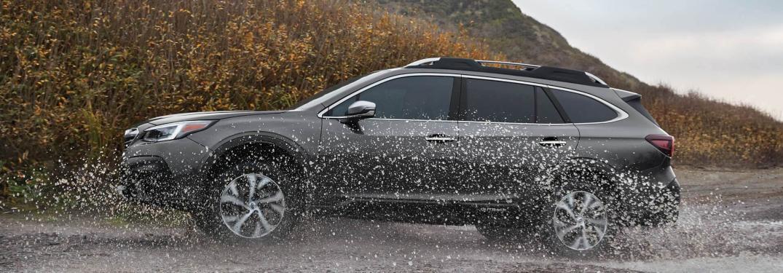 2020 Subaru Outback driving through water