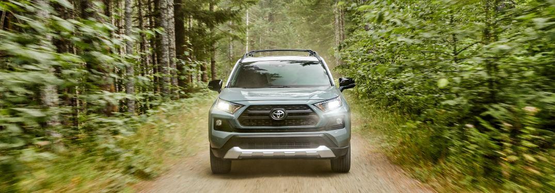 2020 Toyota RAV4 driving down a trail