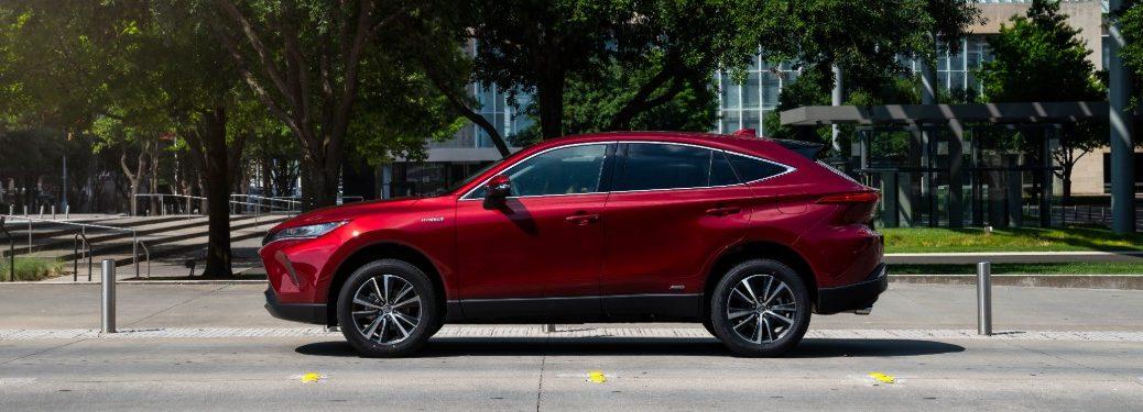 2021 Toyota Venza parked on a city street