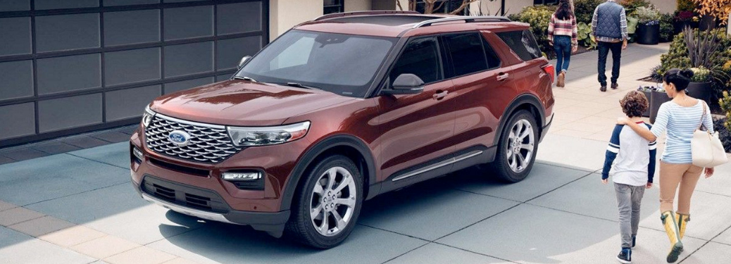 2020 Ford Explorer parked on a city street