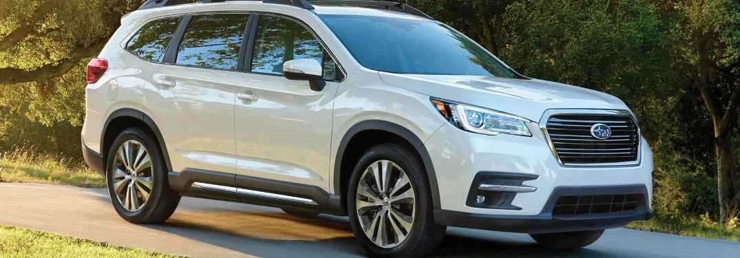 2021 Subaru Ascent going down the road