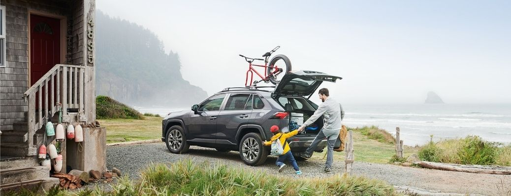 2021 Toyota RAV4 parked outside view