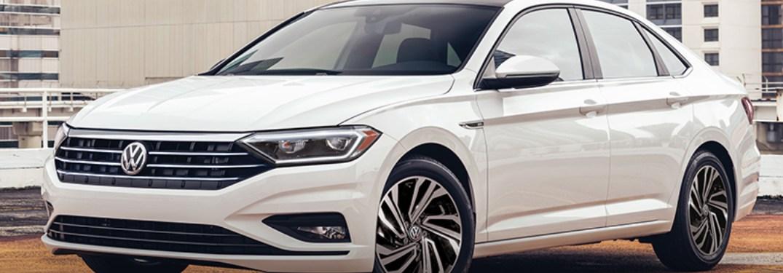 2021 Volkswagen Jetta parked on a parking ramp