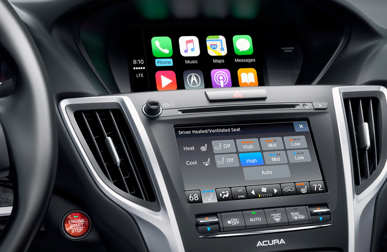 Close Up Of Acura TLX Infotainment System