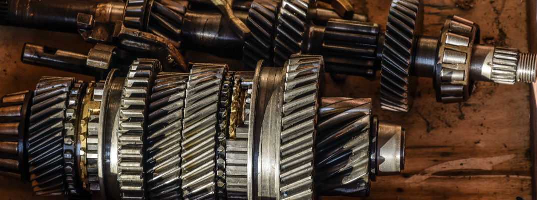 A close up photo of a disassembled transmission