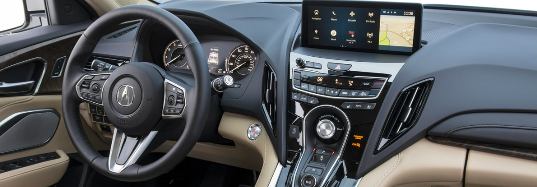 2019 Acura RDX touchscreen display and driver controls