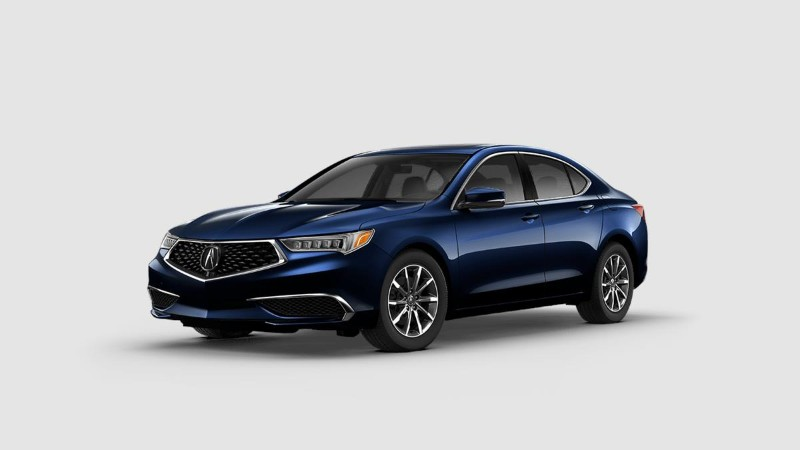 2019 Acura TLX in Fathom Blue Pearl
