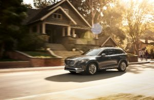 2018 Mazda CX 9 Driving On A Residential Street