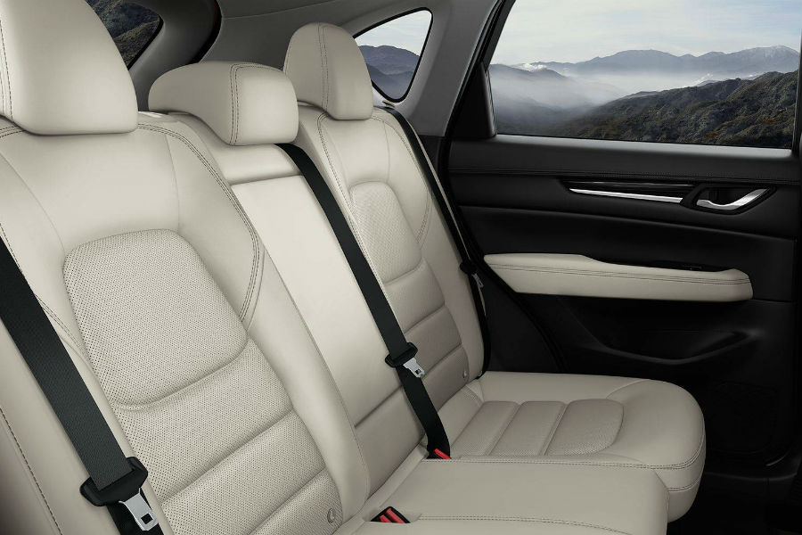 An interior photo showing the back seat of the 2018 CX-5.