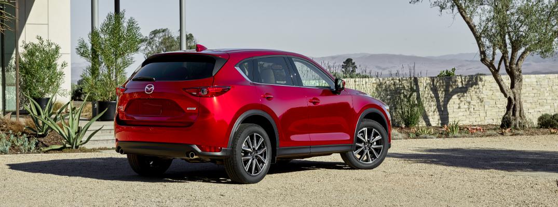 A rear right quarter photo of the 2018 Mazda CX-5.