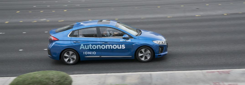 Autonomous Hyundai Ioniq being tested
