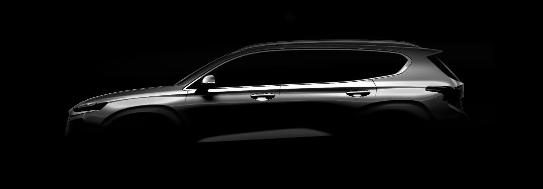 2019 Hyundai Santa Fe in the dark