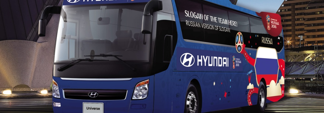 Hyundai bus for the 2018 FIFA World Cup