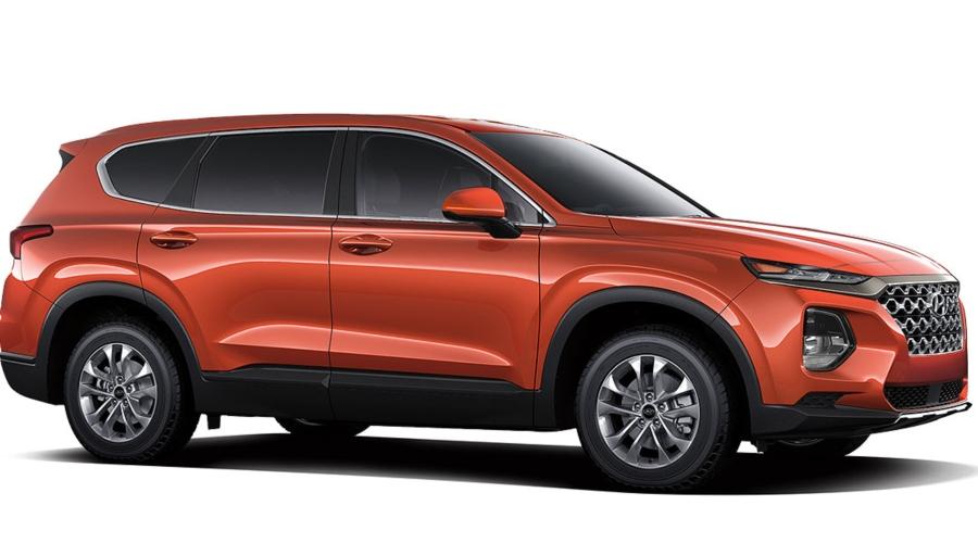 2019 Hyundai Santa Fe in Lava Orange