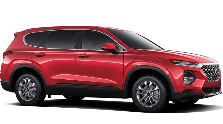 2019 Hyundai Santa Fe in Scarlet Red