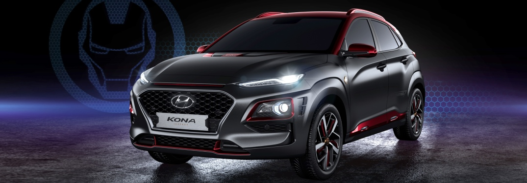Hyundai Kona Iron Man Edition on a black background