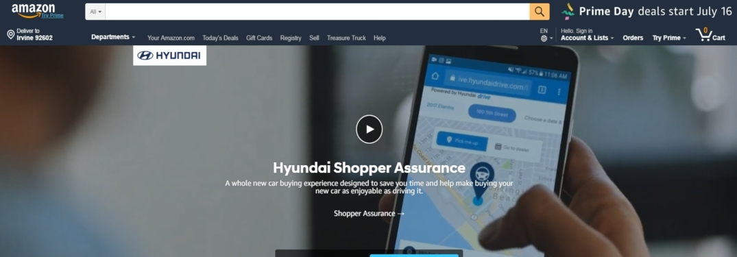 Hyundai digital showroom on Amazon.com