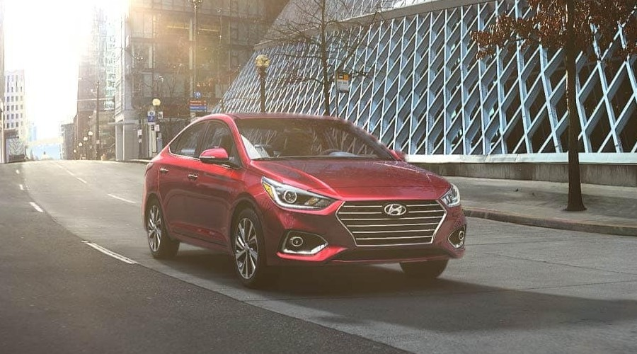2019 Hyundai Accent in Pomegranate Red