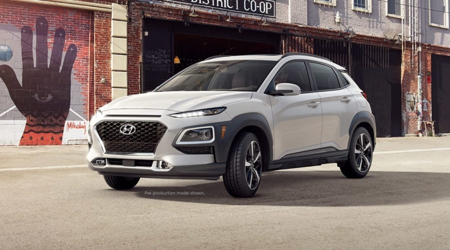 2019 Hyundai Kona in Chalk White