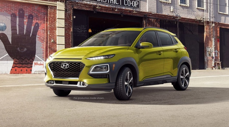 2019 Hyundai Kona in Lime Twist